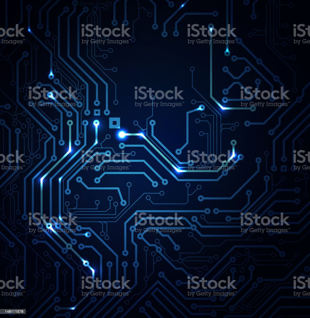 blue Abstract background of digital technologies vector art illustration