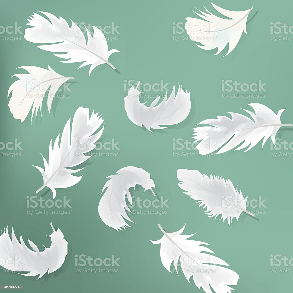 Blue abstract background with feathers royalty-free stock vector art