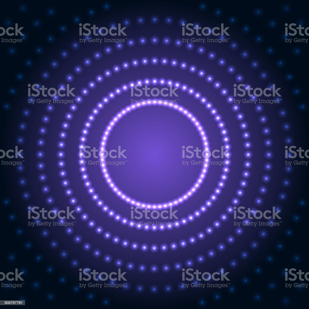 Blue Abstract Background with Lens Flare Dotted Light. Vector royalty-free stock vector art