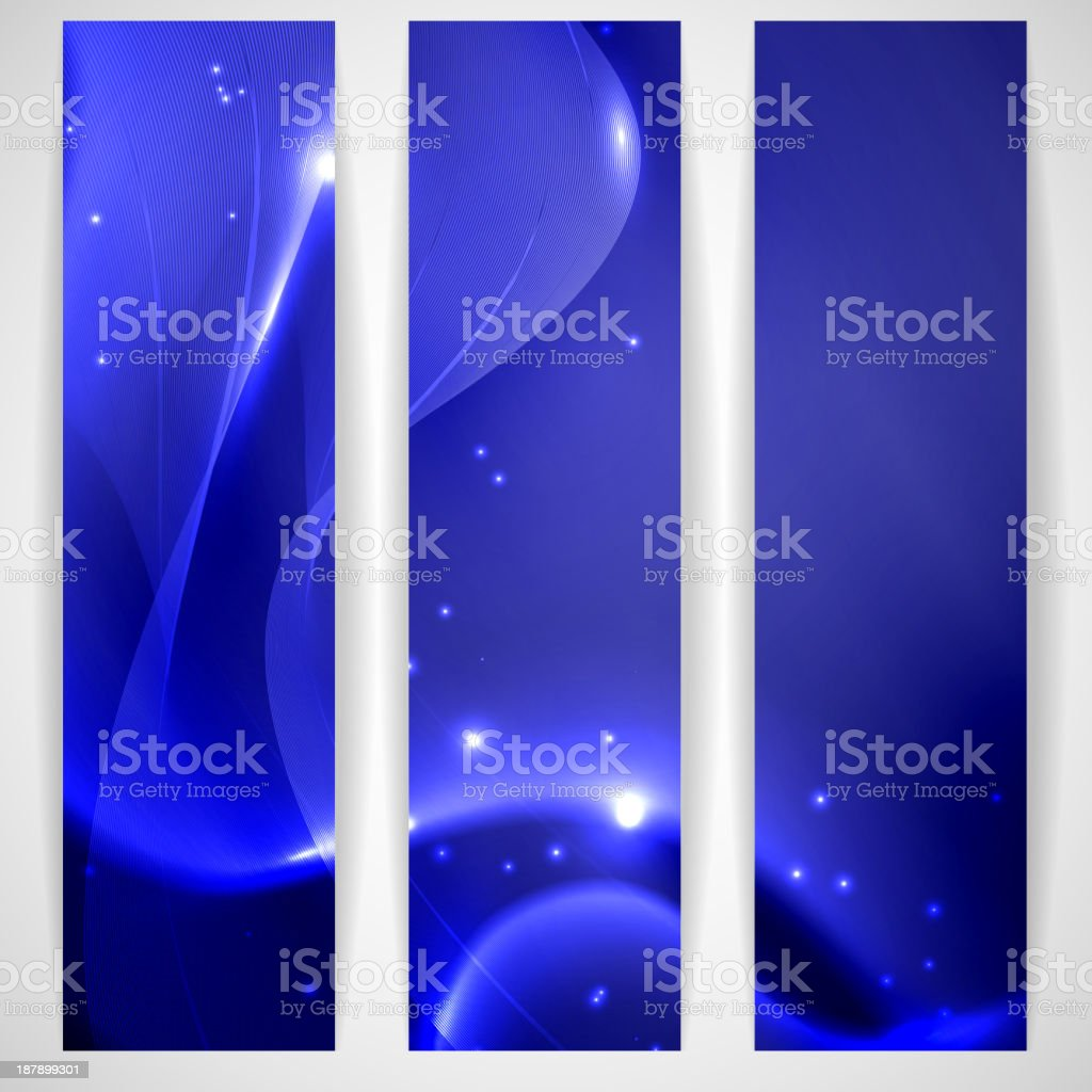 Blue abstract banner. royalty-free stock vector art