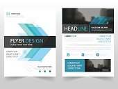 Blue abstract business Brochure Leaflet Flyer annual report template design