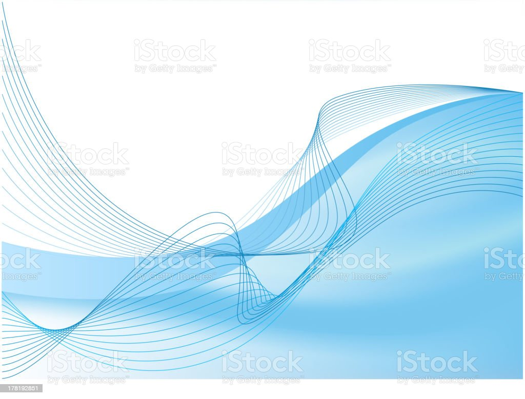 Blue abstract composition royalty-free stock vector art