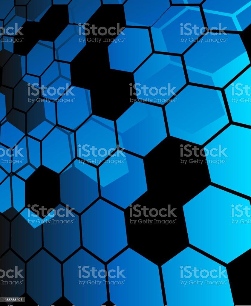 Fondo abstracto azul hexagonal illustracion libre de derechos libre de derechos