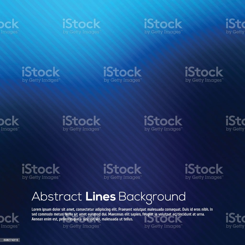 Blue abstract lines business vector background. vector art illustration