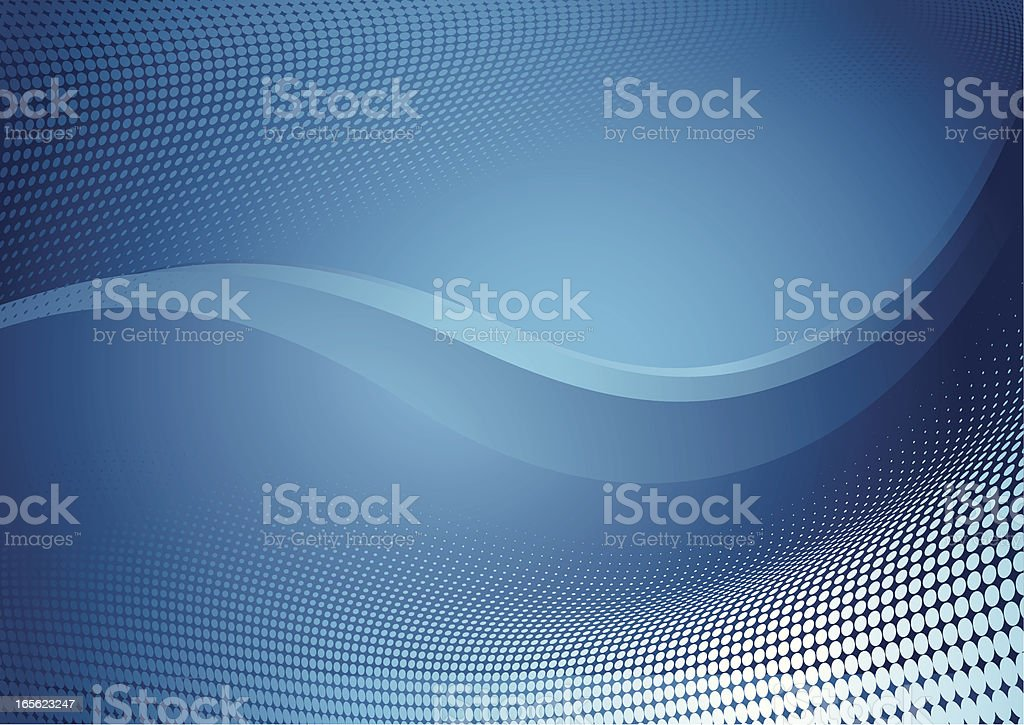 Blue abstract mosaic like background for computer vector art illustration