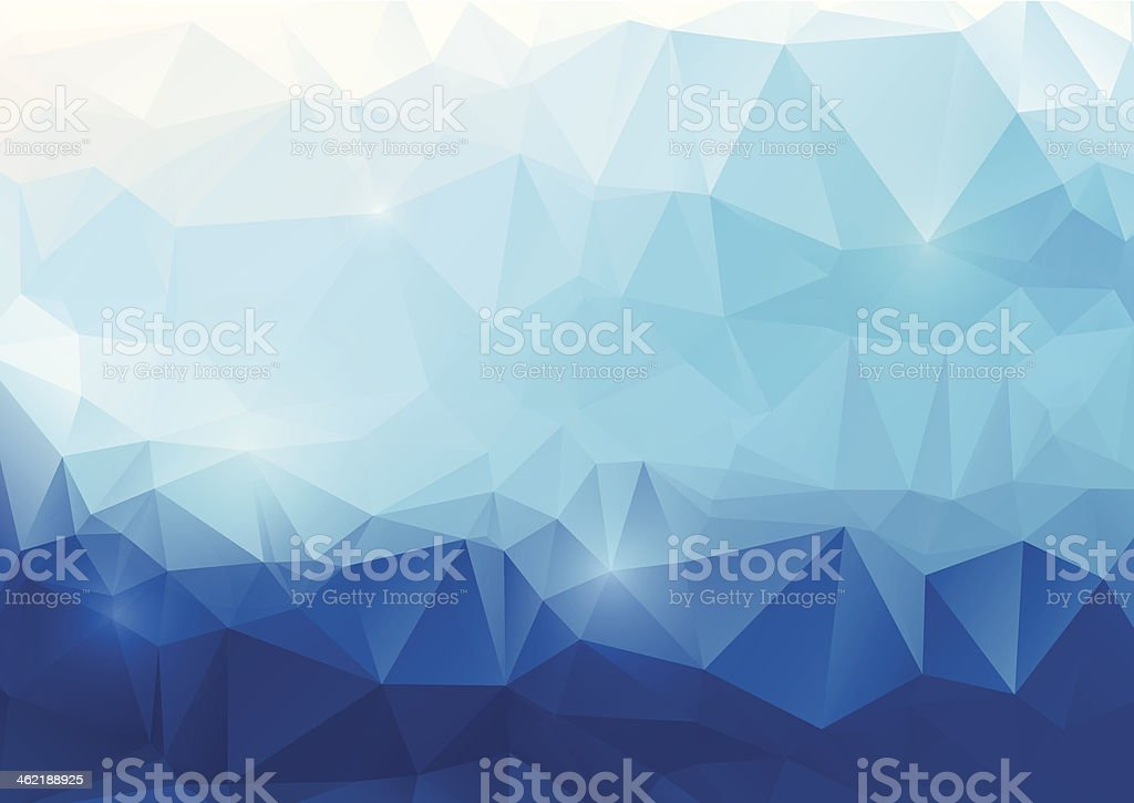 Blue abstract polygonal background vector art illustration