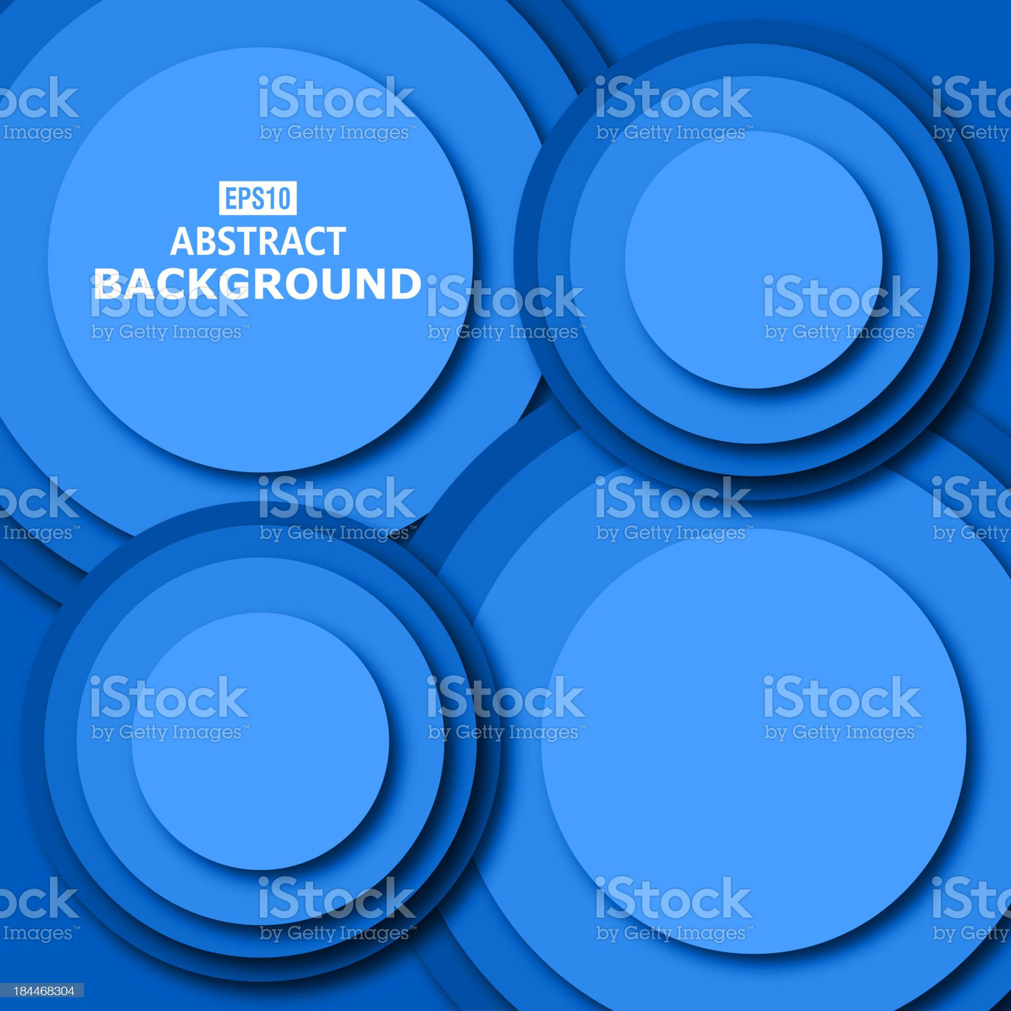 blue abstract round pattern background royalty-free stock vector art