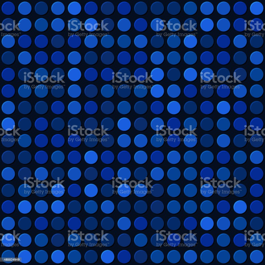 Blue Abstract Seamless Background with Bubbles Spot. Vector royalty-free stock vector art