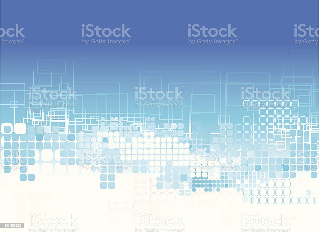 Blue abstract squares background royalty-free stock vector art