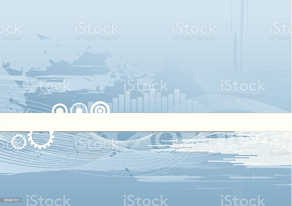 Blue abstract tech background royalty-free stock vector art