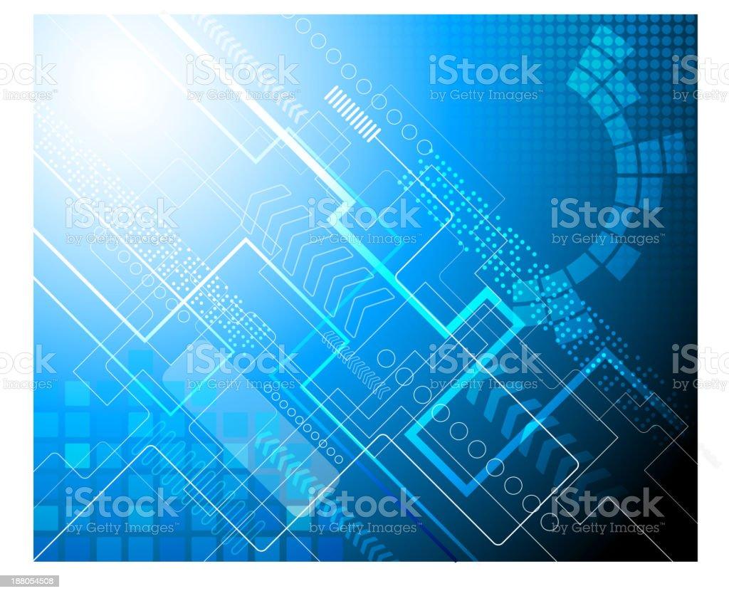 Fondo abstracto azul técnico illustracion libre de derechos libre de derechos