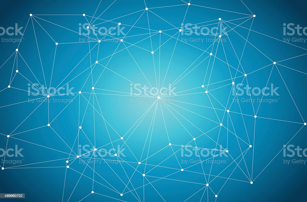 Blue Abstract Technology and Space Illustration vector art illustration