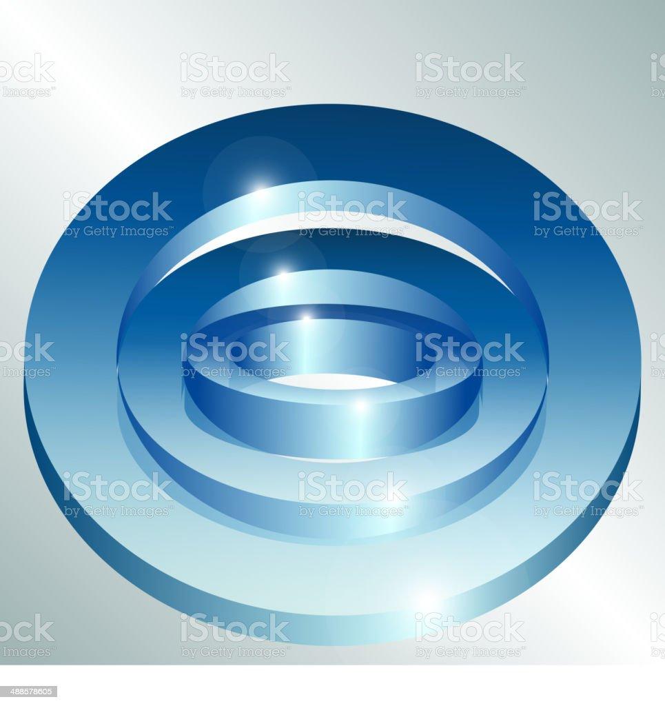 La tecnología de Fondo abstracto azul illustracion libre de derechos libre de derechos
