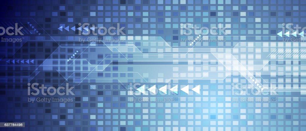 Blue abstract technology digital background vector art illustration