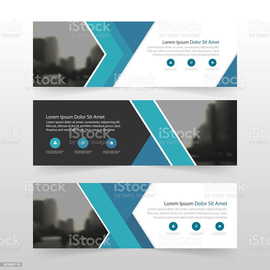blue abstract triangle corporate business banner template 1 credit