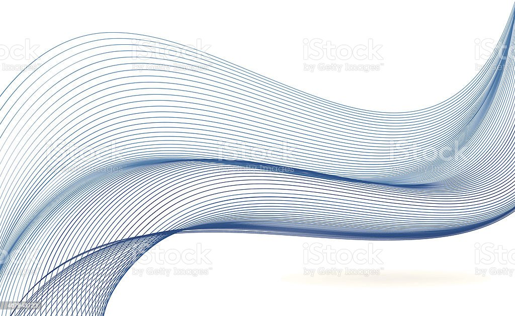Blue abstract wave background vector art illustration