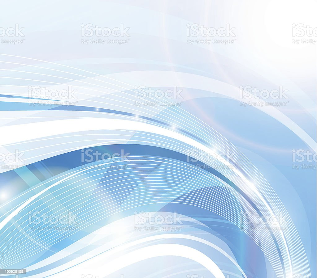 Blue abstraction. vector art illustration