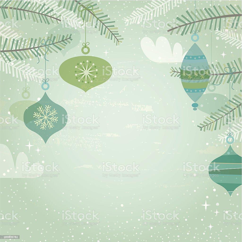 Blue & green retro decorations vector art illustration