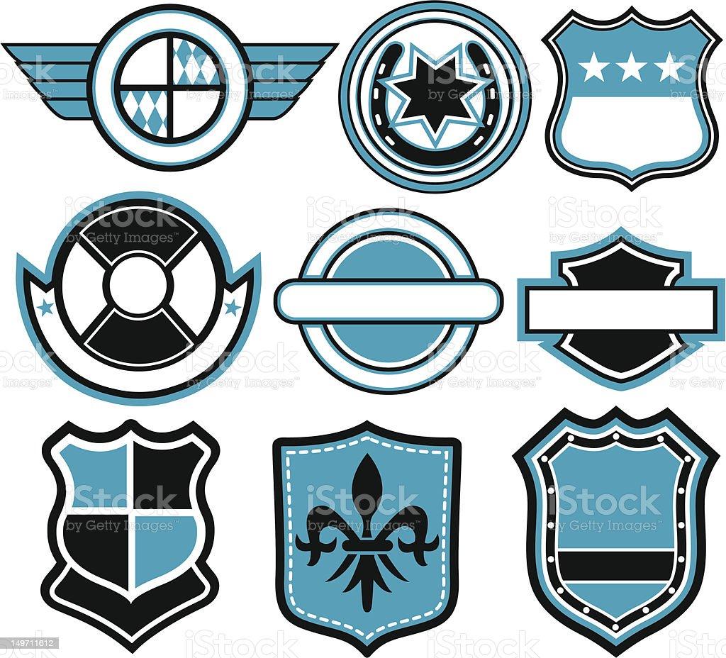 set di emblema distintivo illustrazione royalty-free