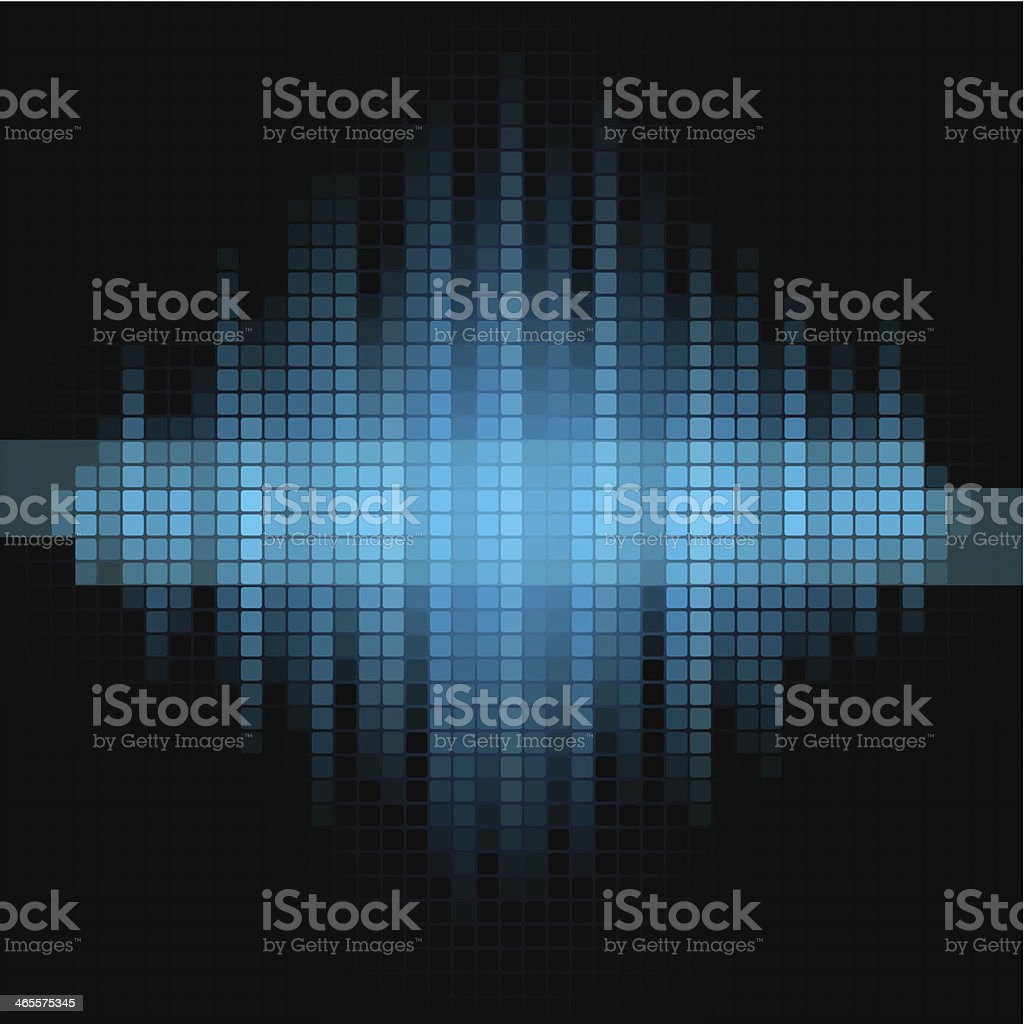 Blue and black mosaic background. royalty-free stock vector art