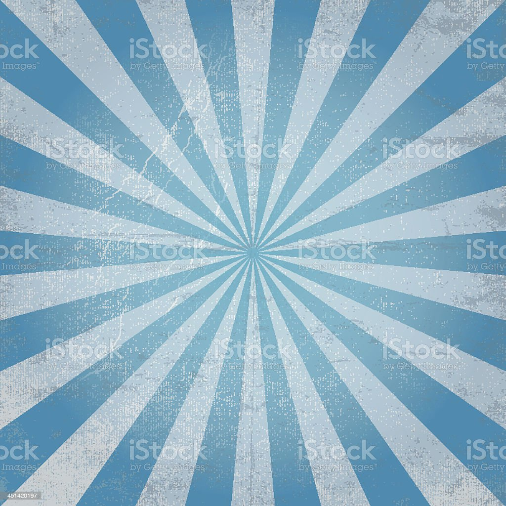 Blue and gray rays emerging from a blue center point vector art illustration
