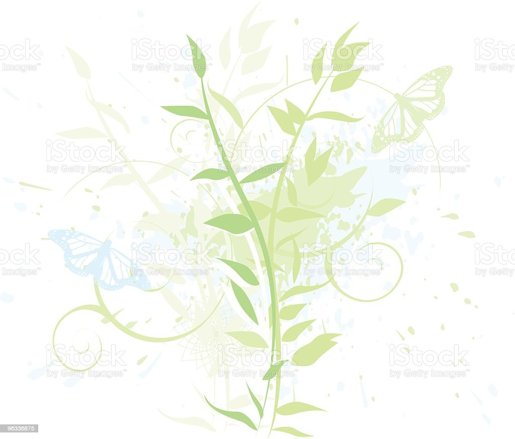 Blue and Green royalty-free stock vector art