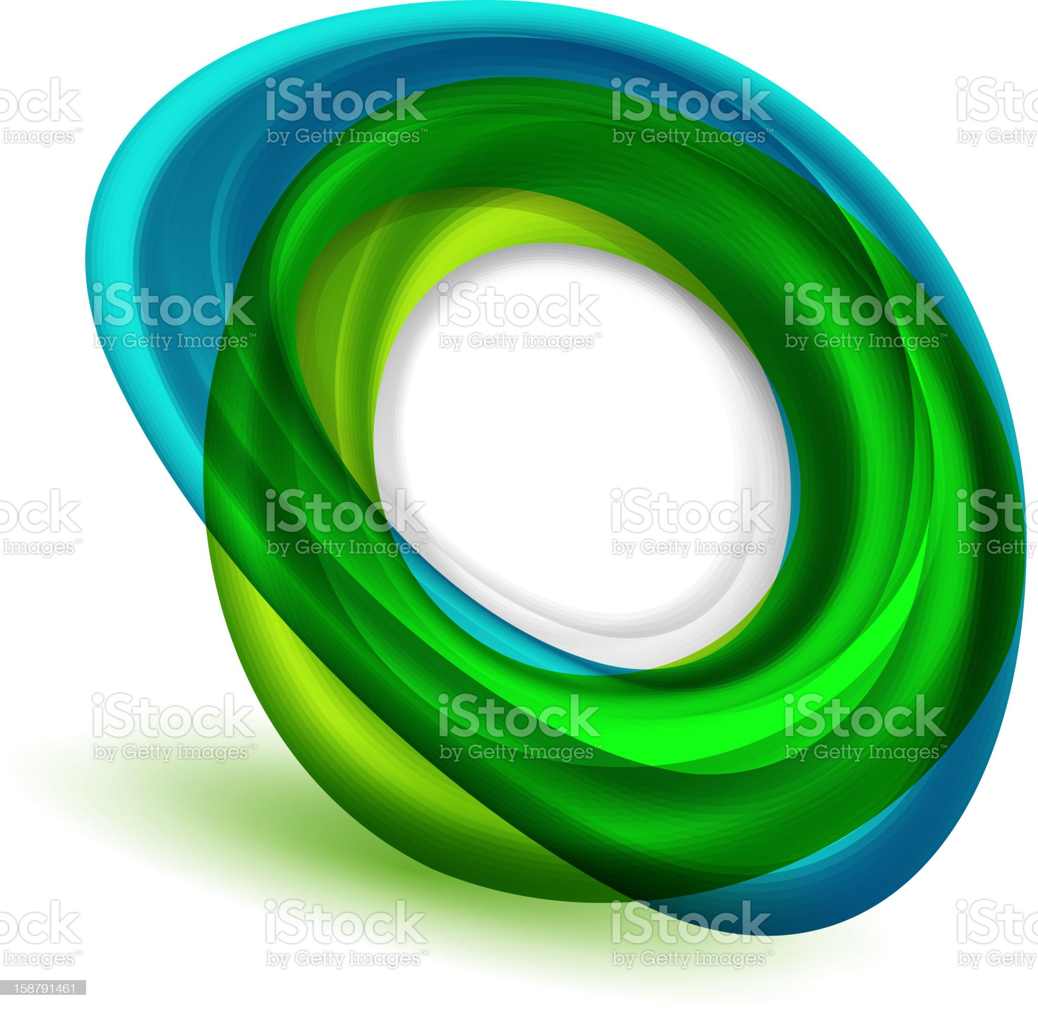 Blue and green vector shape royalty-free stock vector art