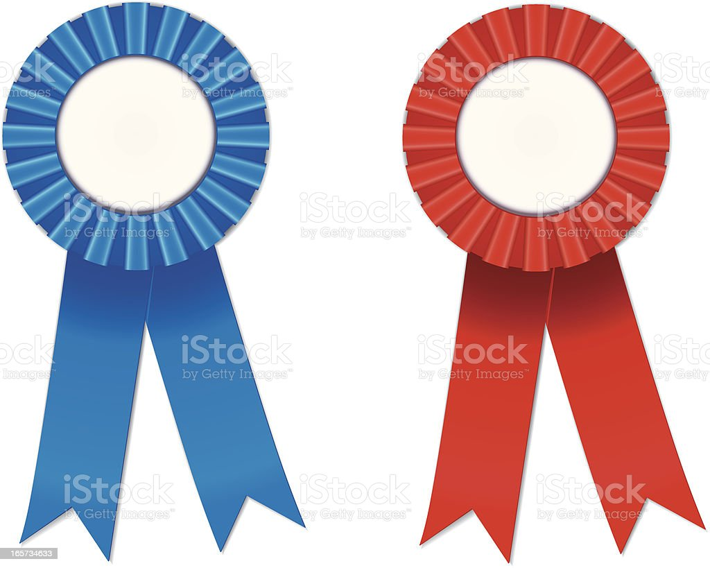 Blue and Red Ribbon royalty-free stock vector art