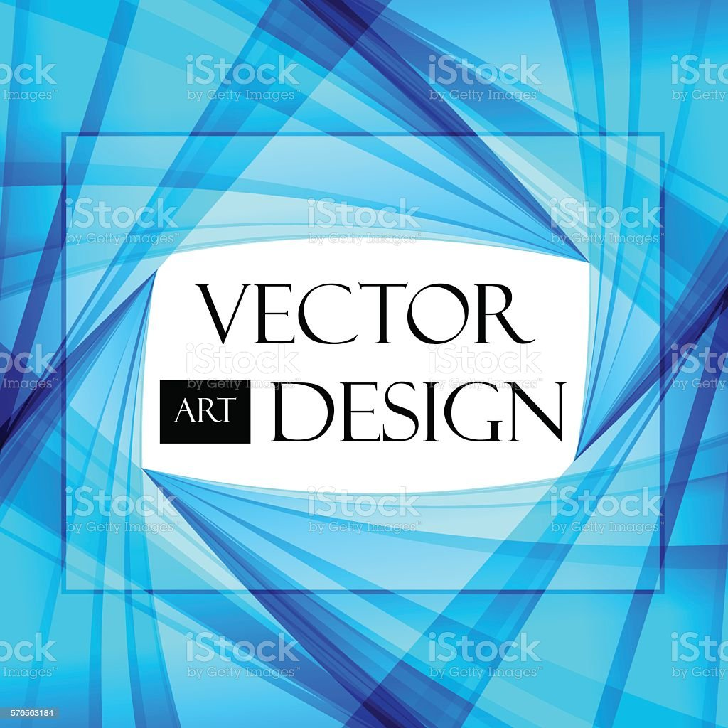 Blue and white abstract background vector art illustration