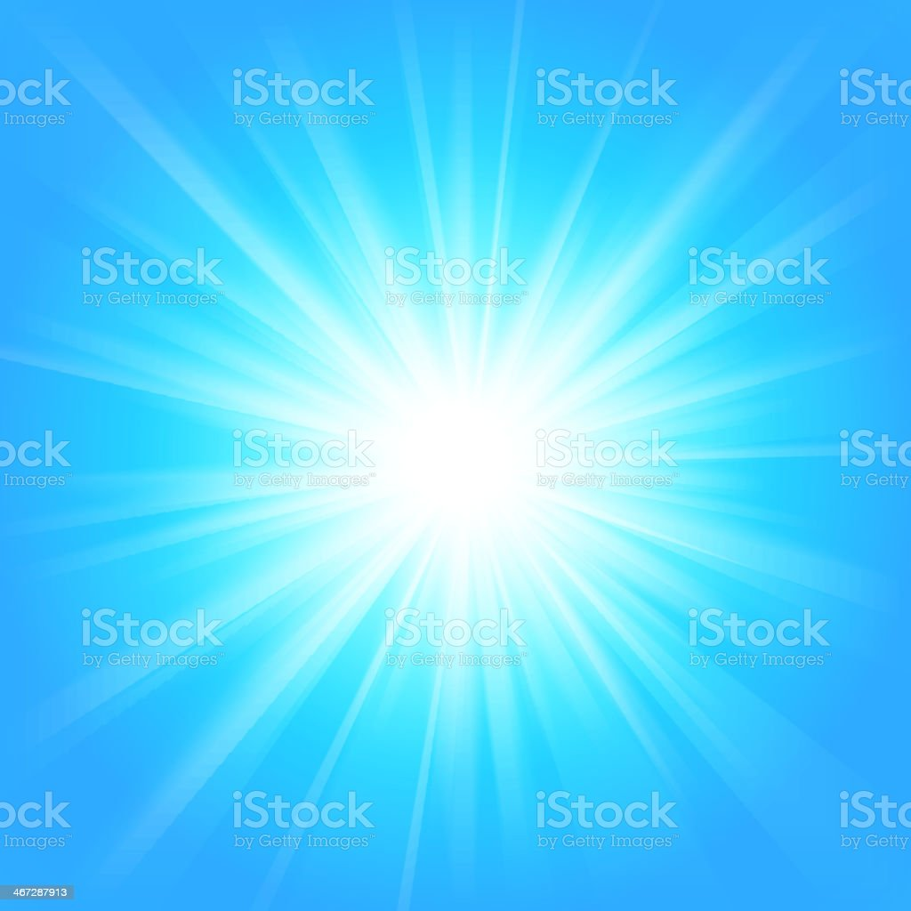 Blue and white abstract magic light background. vector art illustration