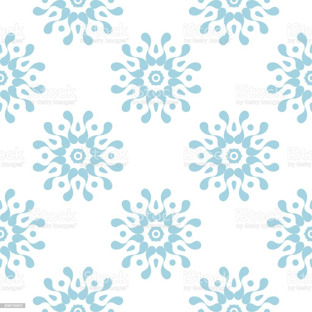 Blue and white abstract seamless pattern vector art illustration