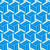blue and white cube pattern background