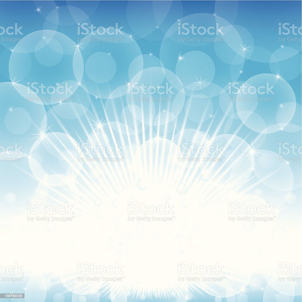 blue and white glow royalty-free stock vector art