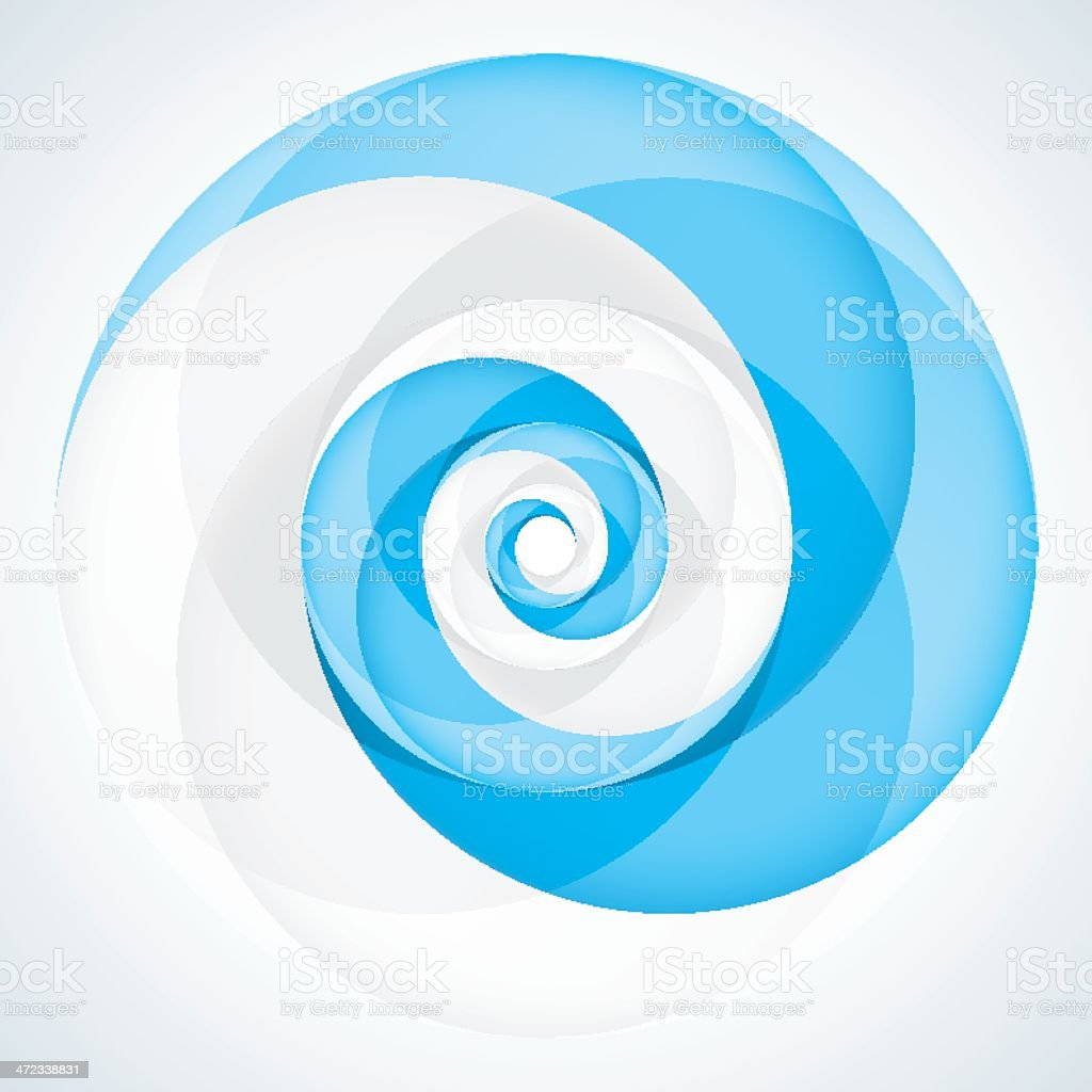 Blue and white swirls intertwined with gray and white swirls royalty-free stock vector art