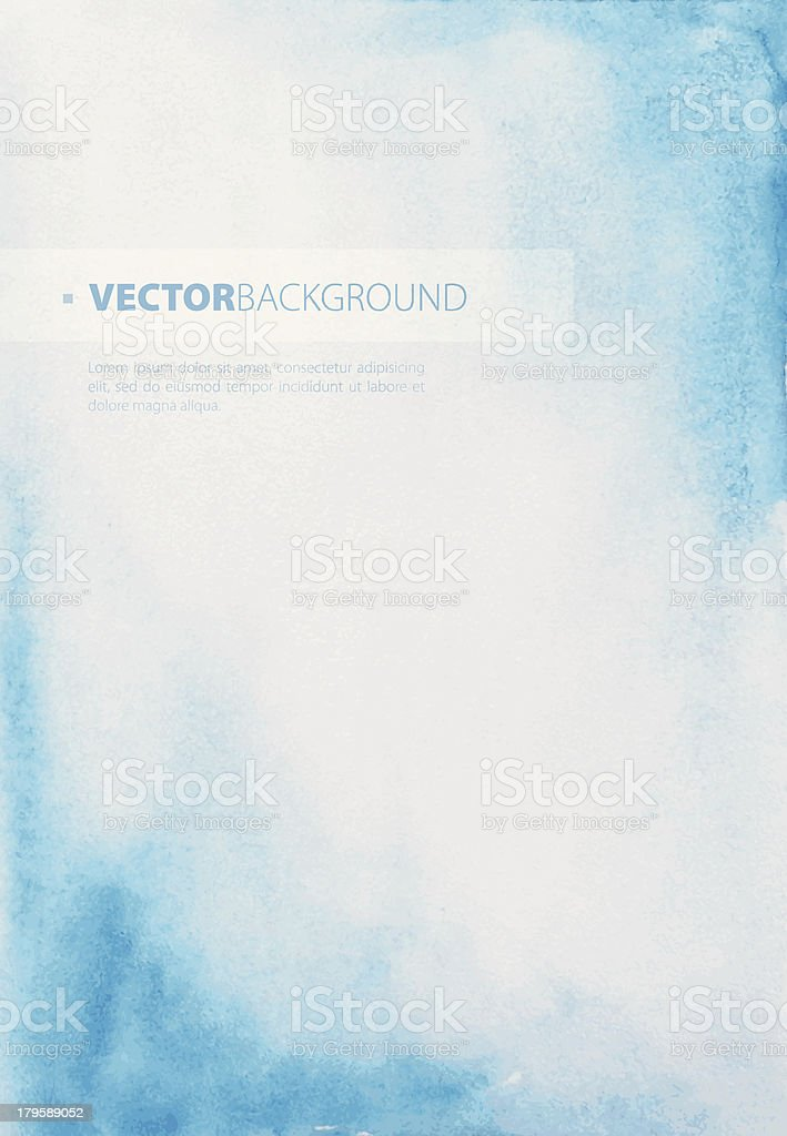 Blue and white watercolor background vector art illustration