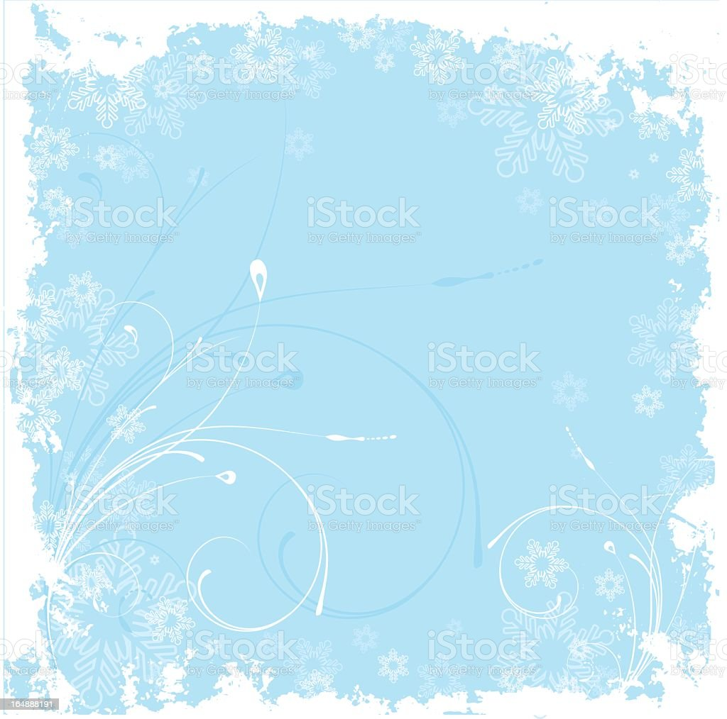 Blue and white winter background royalty-free stock vector art