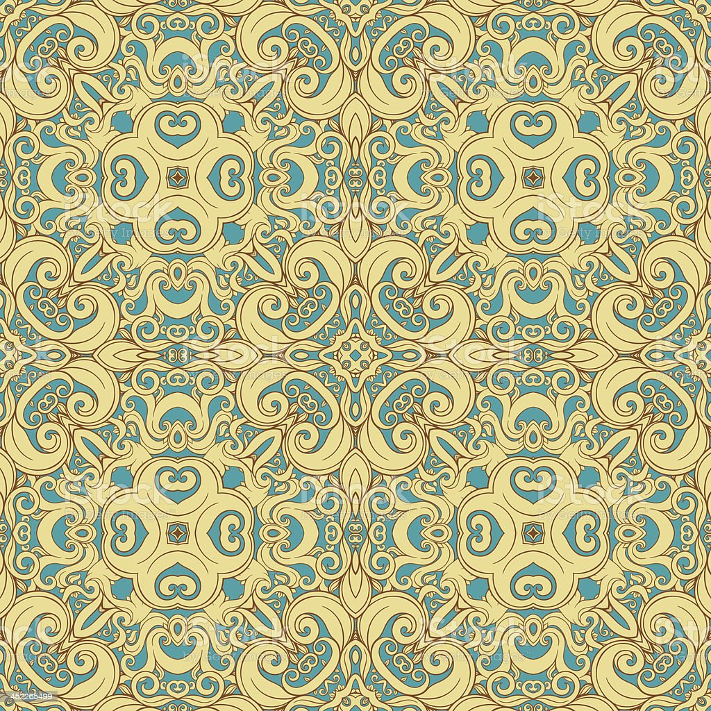 blue and yellow pattern royalty-free stock vector art