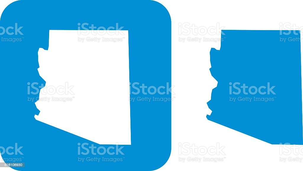 Blue Arizona Icon vector art illustration