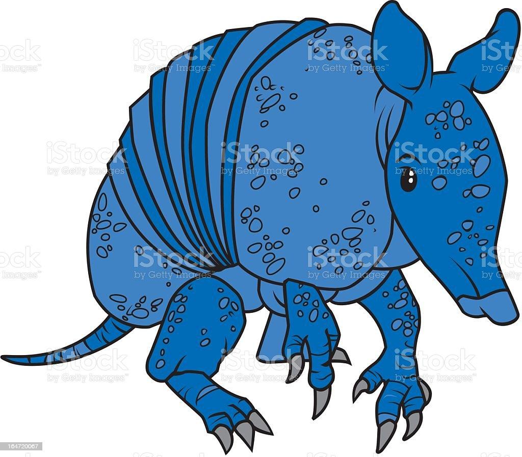 Blue Armadillo royalty-free stock vector art