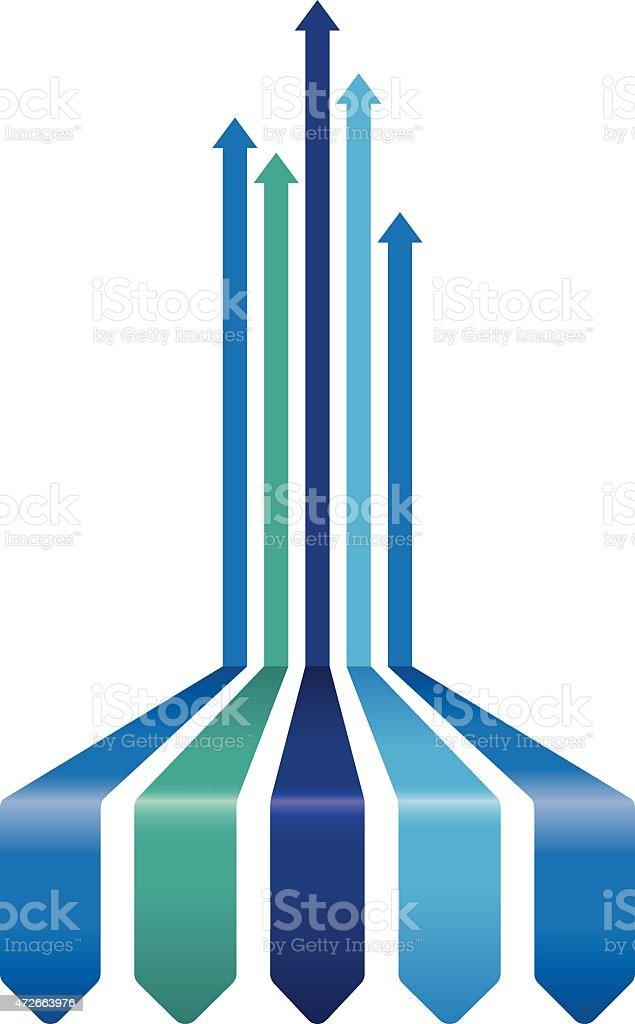 blue arrow line background vector art illustration