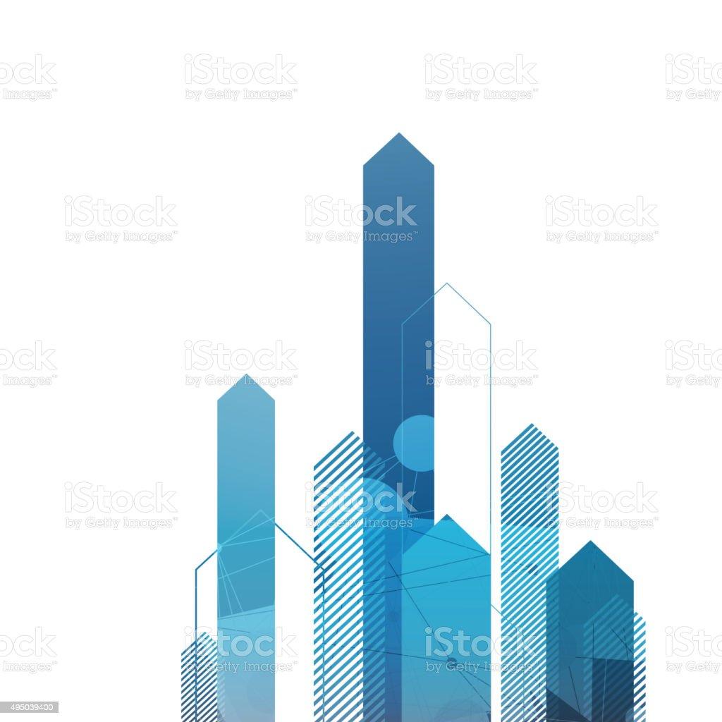Blue Arrows Up. Successful Concept Cover vector art illustration