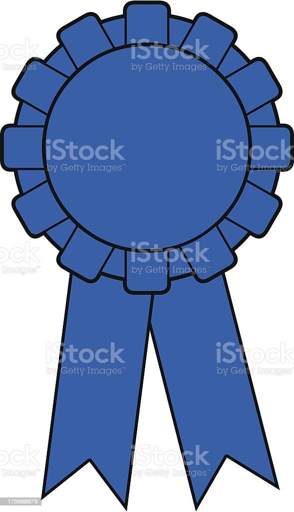 Blue Award Ribbon royalty-free stock vector art