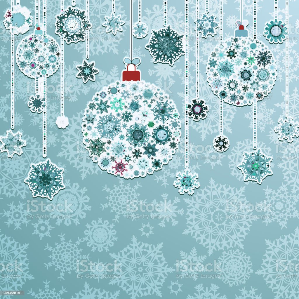 Blue background with christmas balls. EPS 8 royalty-free stock vector art