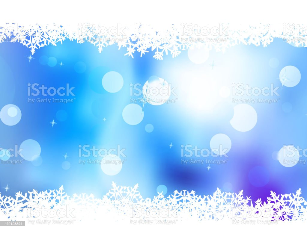 Blue background with snowflakes. EPS 10 royalty-free stock vector art