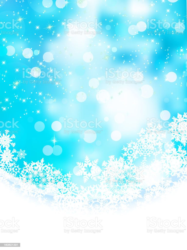 Blue background with snowflakes. EPS 8 royalty-free stock vector art