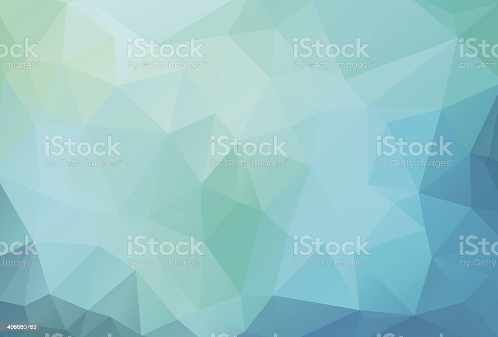 blue background with triagles vector art illustration