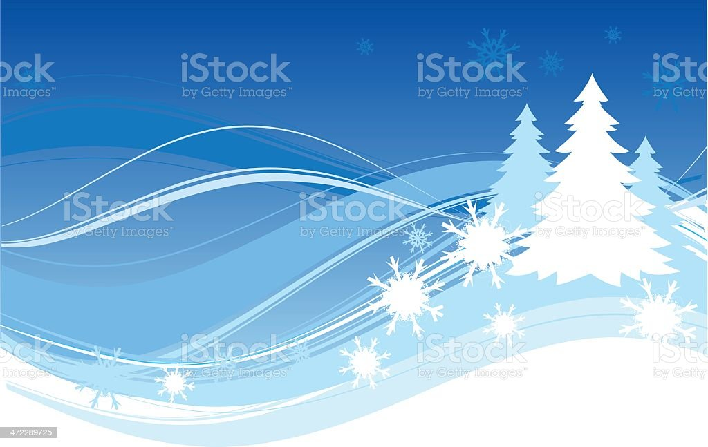 blue banner with trees royalty-free stock vector art