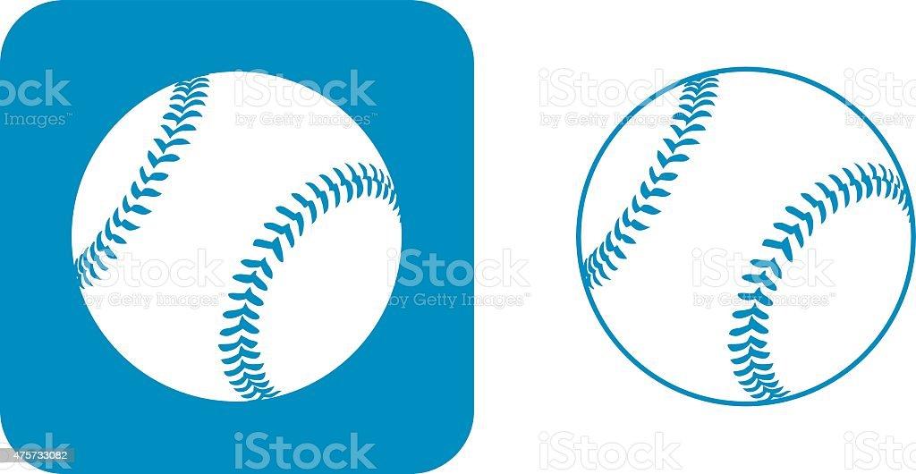 Blue Baseball Icons vector art illustration