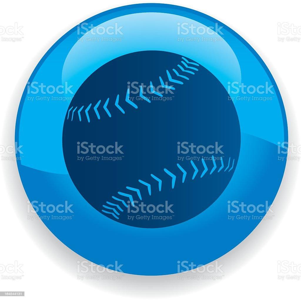 Blue baseball inside a blue circle illustration royalty-free stock vector art