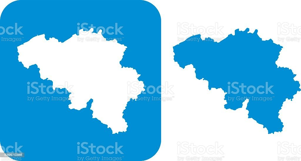 Blue Belgium Icon vector art illustration